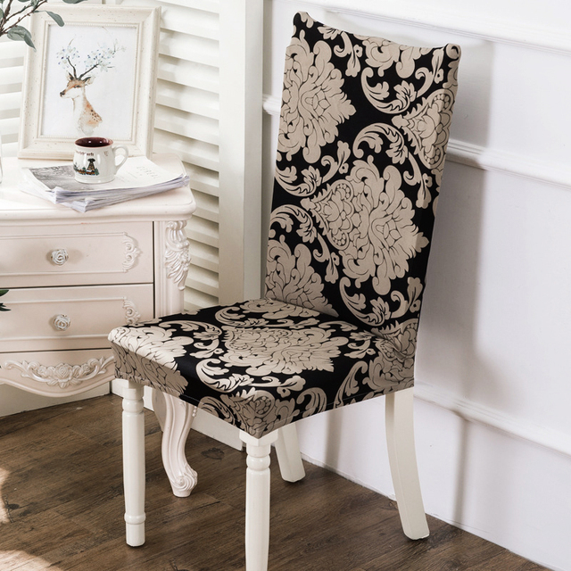 Merveilleux 1 Piece Print Floral Chair Cover Stretch Seat Chair Covers Elastic  Slipcovers Banquet Hotel Office Chair