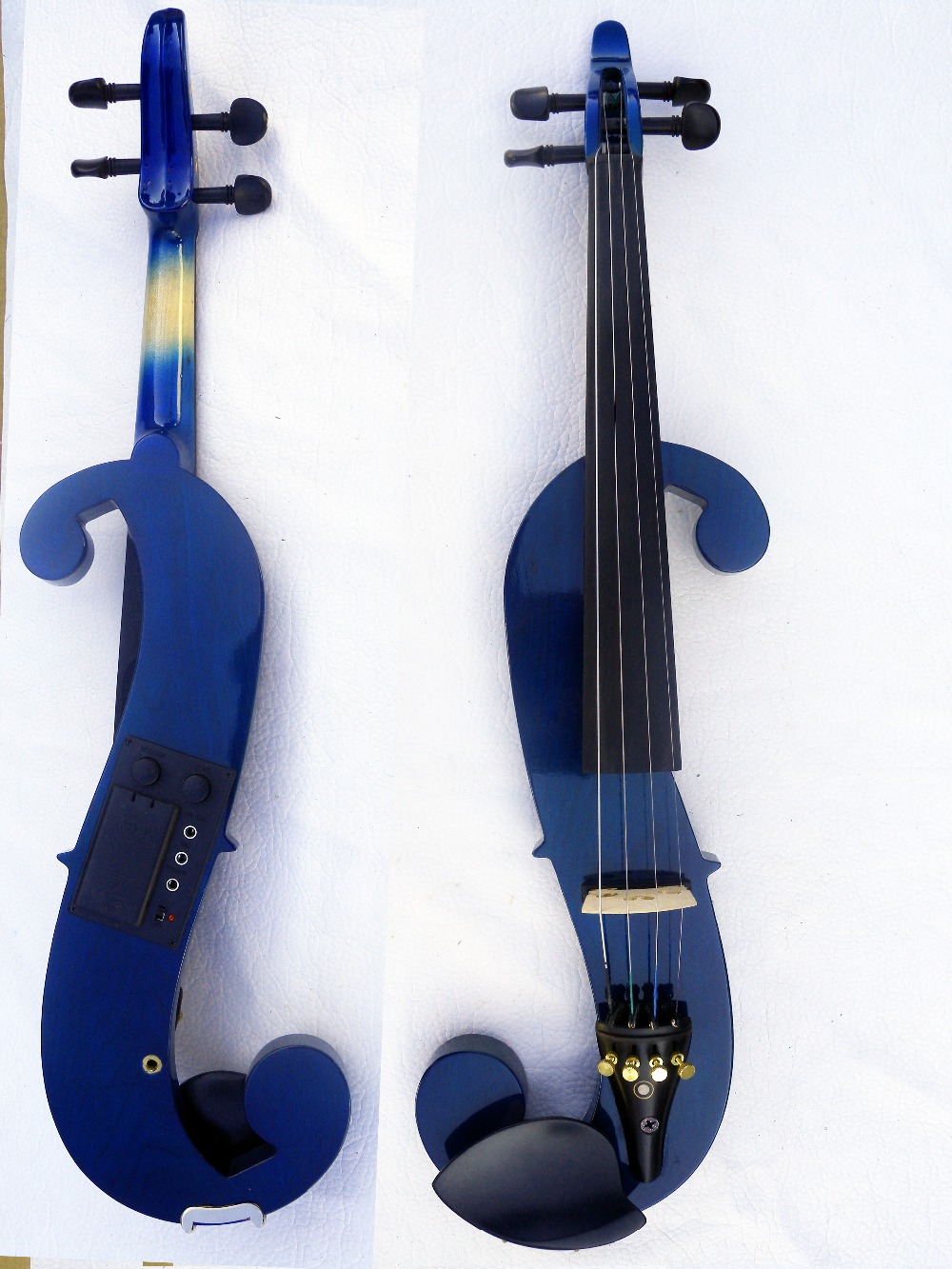 4/4 Electric Violin Solid wood 4 --1# silvery blue red color 4 string 4 string 4 4 new electric acoustic violin dark green color 1 2541