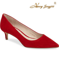 Nancyjayjii  Women Shoes Med-Heels Pointed Toe Pumps Shoes  For Dress&Party&Wedding  Size 4-16