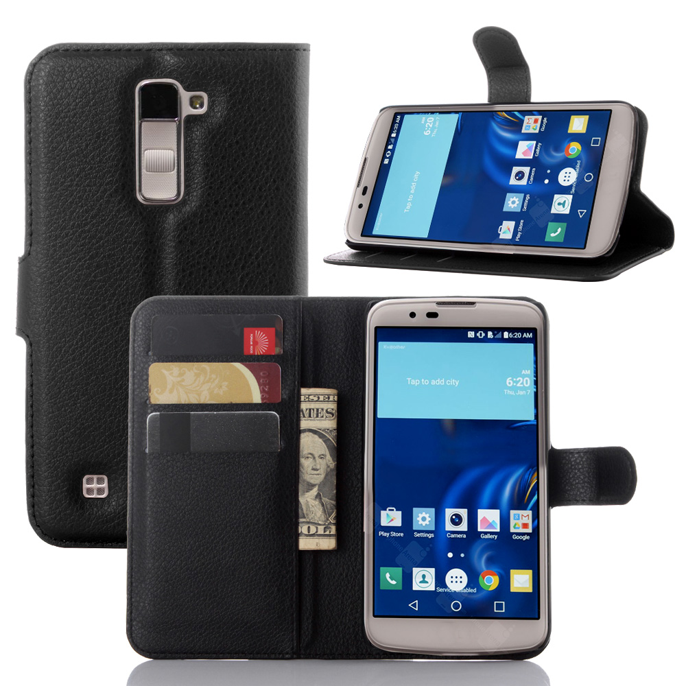 finest selection 92b04 27e08 US $3.31 13% OFF Luxury Capas For LG K10 K430 Lte K430DS K410 K420N K430DSF  / LG M2 Phone Case Wallet Leather Flip Cover Bags For LG K10 Cases-in Flip  ...