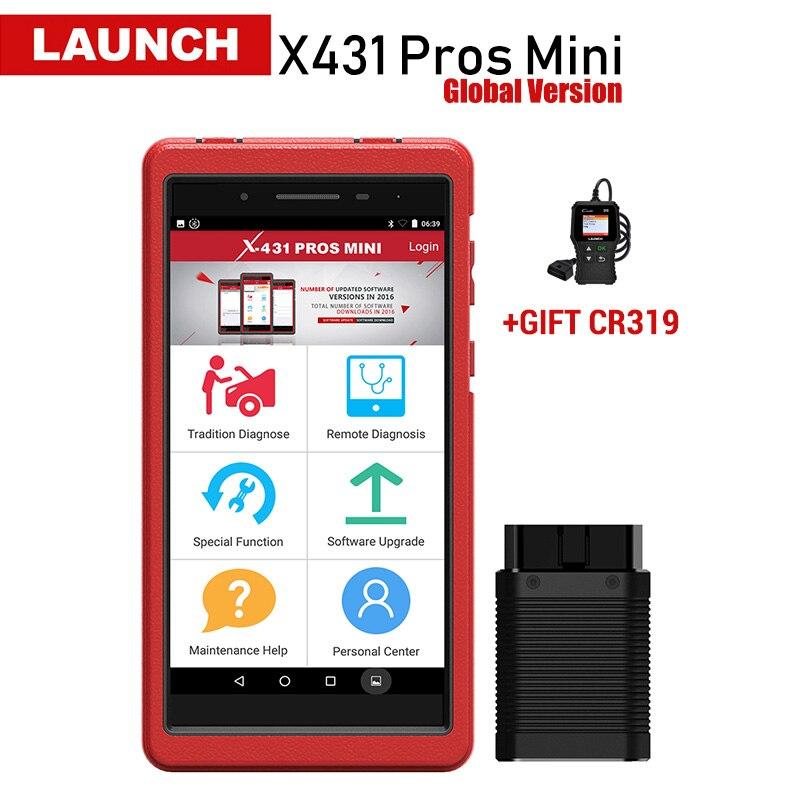 Lançamento X431 Prós Mini Auto Ferramenta de Diagnóstico Completo Do Sistema X-431 Pro Profissionais Mini Carro do Scanner ECU Codificação Analisador 2 Anos atualização gratuita