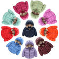 2016 Children's Winter Coat Winter Boys Girls Outerwear Down Jacket Hooded Kids Jacket Children Thick Warm Clothing