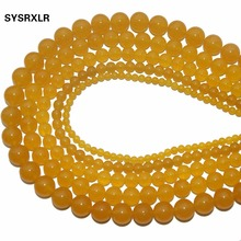 цена на New Yellow Agate Diy Bracelet Handmade Natural Stone Beads For Jewellery Making Crystal Round Shape 4 /6/8/10/12 MM Strand 15''