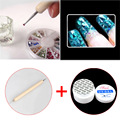 Dotting Two Sides Nail Art Dot Pen + UV Gel Nail UV Builder Gel Transparent Nail Art Manicure Tips Glue