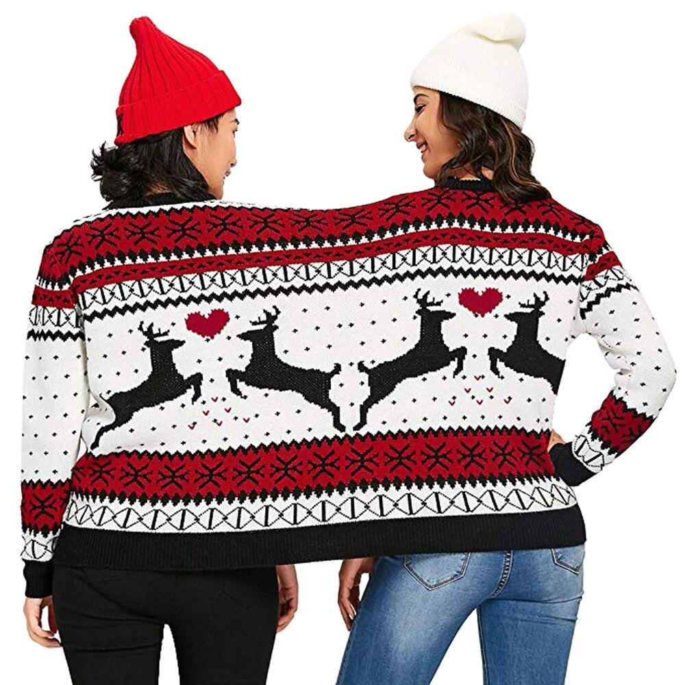 Dos personas Ugly Sweater Xmas Winter Couples pulóver novedad Navidad blusa  Top camisa para mujer Pull Femme camisa femenina   TW en Pullovers de La  ropa de ... 8d4e2ce2e3e7