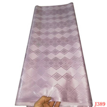 HFX New Arrival Guinea Brocade Fabric 100% cotton pink Bazin Riche Getzner 2019 African Fabric Top Quality 10yard/lot Y389 hfx gold bazin riche getzner 2019 top quality nigerian lace fabric 100