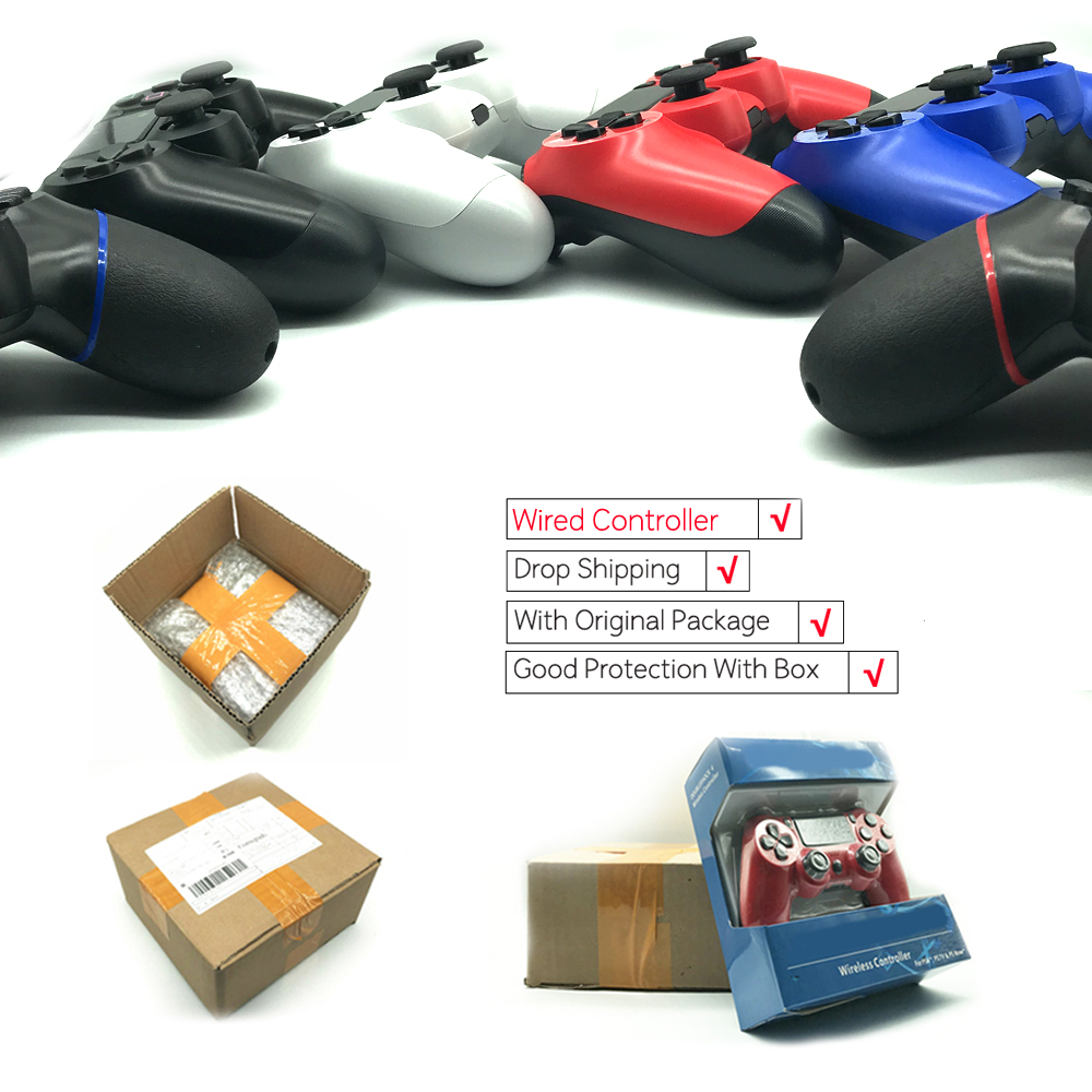 Para PS4 con cable controlador Gamepad para Sony Playstation 4 PS4 controlador para Dualshock PC 4 USB Joystick Gamepad para PlayStation 4