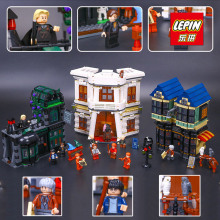 LEPIN 16012 2025Pcs Magic Word Diagon Alley Model Building Kit Block Bricks Compatible With Legoed Harry Potter 10217(China (Mainland))