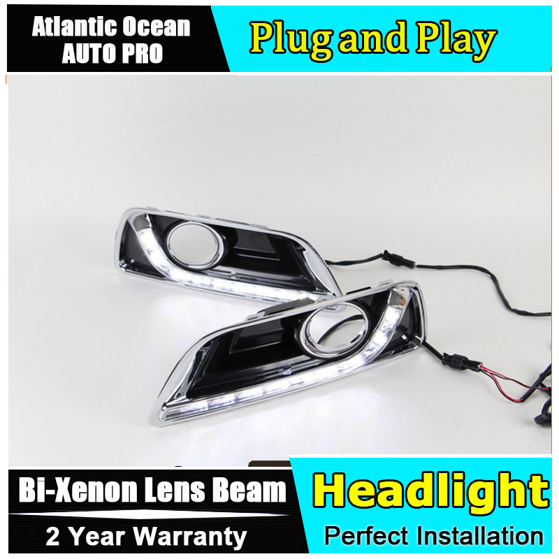 A&T car styling For Malibu LED DRL For Malibu High brightness guide LED DRL led fog lamps daytime running light A style