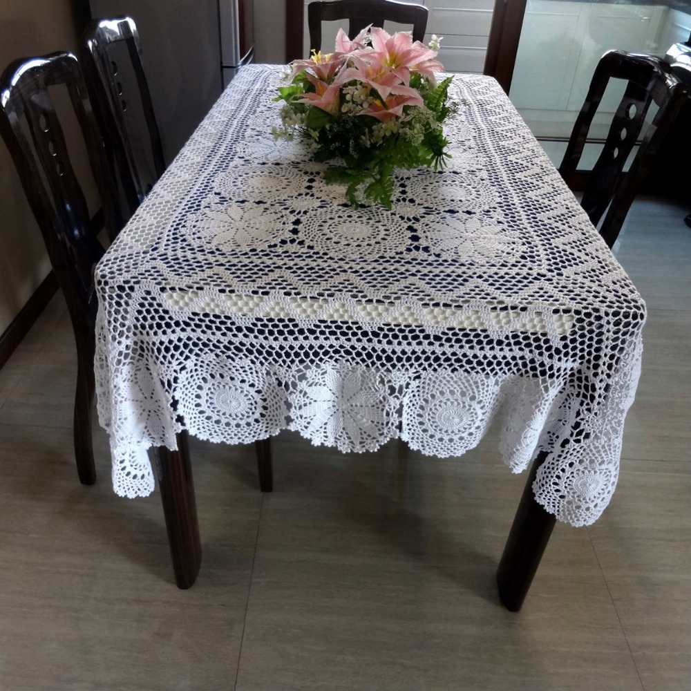 100% Cotton Vintage Hand Made Crochet Table Mat Table Cloth Table ...