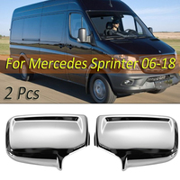 1Pair Chrome Rearview Wing Mirror Covers For Mercedes Sprinter 2006 2007 2008 2009 2010 2011 2012 2015 2016 2017 2018
