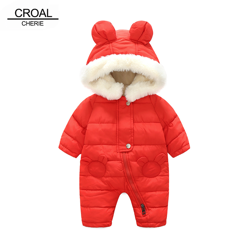CROAL CHERIE Winter New Born Baby Clothes Baby Boys Rompers Newborn Girl Jumpsuit Cotton Winter Children Coat Outerwear dinstry 2018 new born baby clothes bird print baby jumpsuit summer baby rompers baby cotton dress