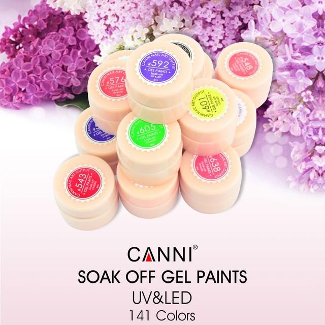 New 2017 CANNI Brand Nail Art Design141 Color UV LED Soak Off Paint Color Gel Ink UV Gel For Nails