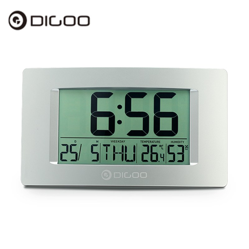 Digoo DG-GC1 8.7 Large LCD Screen Indoor Thermometer Hygrometer Weather Station Digital Clock Wall Clock indoor digital hygrometer and thermometer with large lcd screen and 16000 samples
