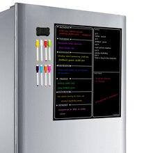 לוח מגנטי מתכנן לוח מטבח מקרר לוח שנה ארגונית פנקס מתכנן שבועי לוח מקרר מגנטים