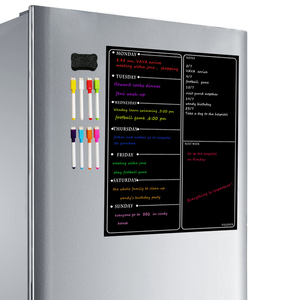 Image 1 - 磁気ホワイトボードプランナーキッチン冷蔵庫のカレンダー主催メモ帳毎週プランナーホワイトボード冷蔵庫マグネット