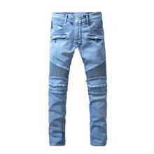 2016 New Men Nightclubs blue Jeans, Fashion Designer Denim Jeans Men,plus-size 28-40, casual jeans