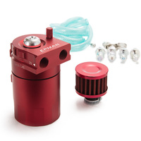 Oil Catch Tank Racing Oil Tank /Oil Catch can Polished Oil Reservoir Catch Can Tank With Breather Filter TK JYH08 AF