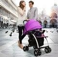 Alta Qualidade Baby Stroller Alta Paisagem Da Liga De Alumínio de Carro Do Bebê Portátil Dobrável Carrinhos Carrinhos para Recém-nascidos 2 Cores C01