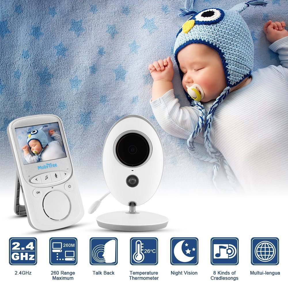 babykam baba eletronica wireless baby monitor 2.4 inch LCD IR Night Vision Intercom Temperature Lullabies detector fetal