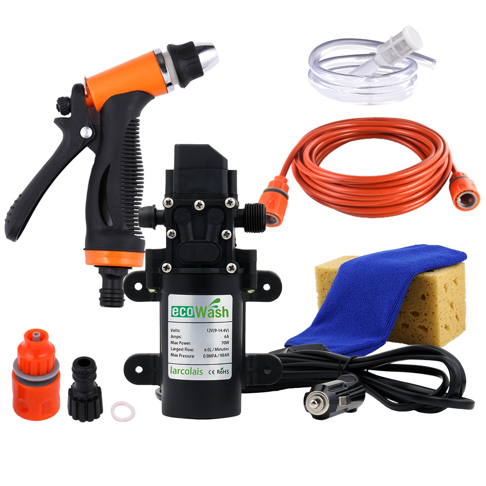 Car Washer Gun Pump12V High Pressure Cleaner Care Electric Washing Machine Auto Car Wash Maintenance Tool Accessories(China)