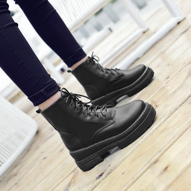 Fashion women's ankle boots 2018 New classic Punk platform