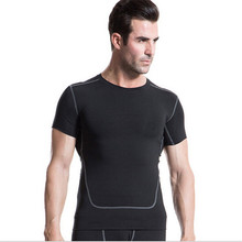 #1023 Men Bodybuilding Fitness Compression Base Layers Under Tops Shirts Thermal Tees Top Skins Shirt Vest Men S-2XL