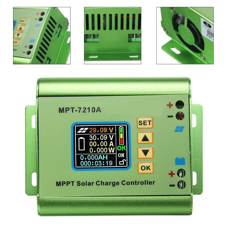 LCD Display MPT-7210A MPPT Solar Panel Charge Controller 24/36/48/60/72V Boost for Solar Battery Regulatir Controller a funssor lcd controller panel for flashforge creator pro 3d printer lcd panel fast ship