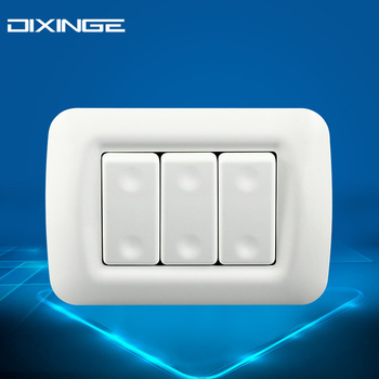 Włoski standard 118mm panel PC przełączniki ścienne do zasilania domowego 3Gang 1Way przełączniki 250V 16A tanie i dobre opinie DIXINGE Z tworzywa sztucznego 10years YDLKG03 Toggle Switch
