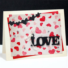 Eastshape 3PCS Valentines Word Love Hugs Xoxo Tags 2019 Metal Cutting Dies for Scrapbooking Die Cuts Card Makings