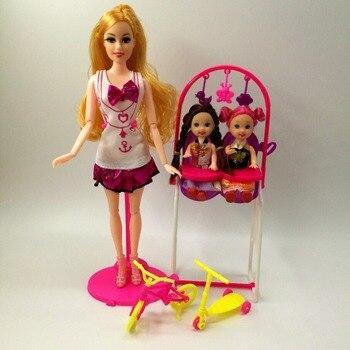 91678ca908d4c Bebek Fashionista Ultimate Prenses Bebek Hediye Çocuk Salıncak Oyuncak Moda  Aksesuarları Barbie bjd Bebek oyun evi oyuncaklar Çocuklar için