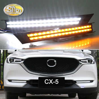 For Mazda CX-5 CX5 2017 2018 2019 Dynamic Turn Signal Relay Waterproof Car DRL 12V LED Daytime Running Light Fog Lamp Decoration - DISCOUNT ITEM  50% OFF All Category
