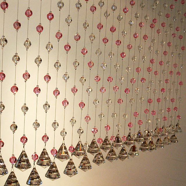 1pcs/1 M Crystal Bead Curtain Indoor Home Decoration Partition Renovation  Festive Fashion Wedding Decoration