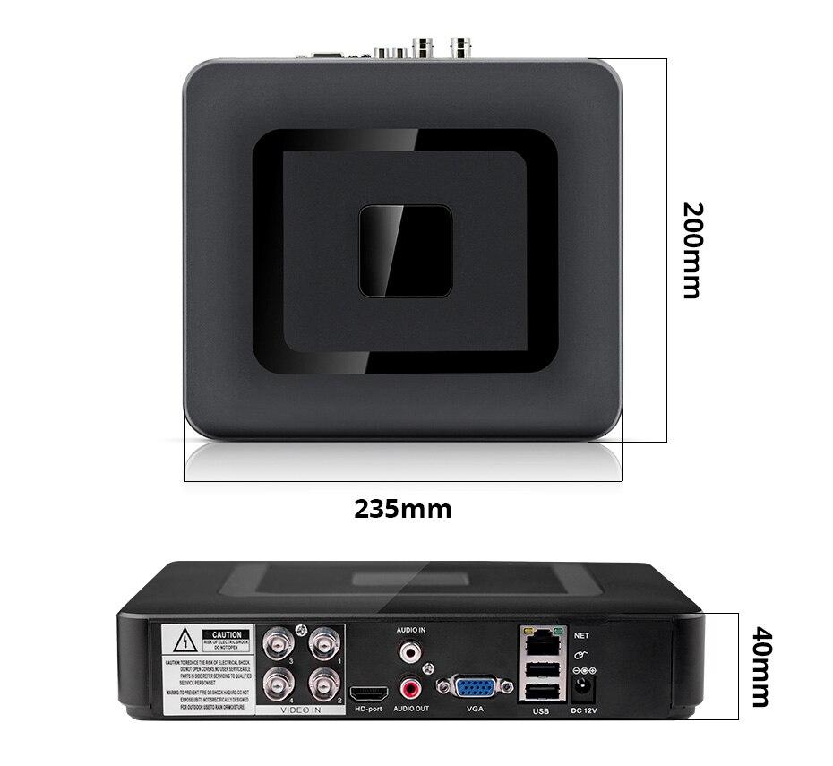 1 DVR video record parameter
