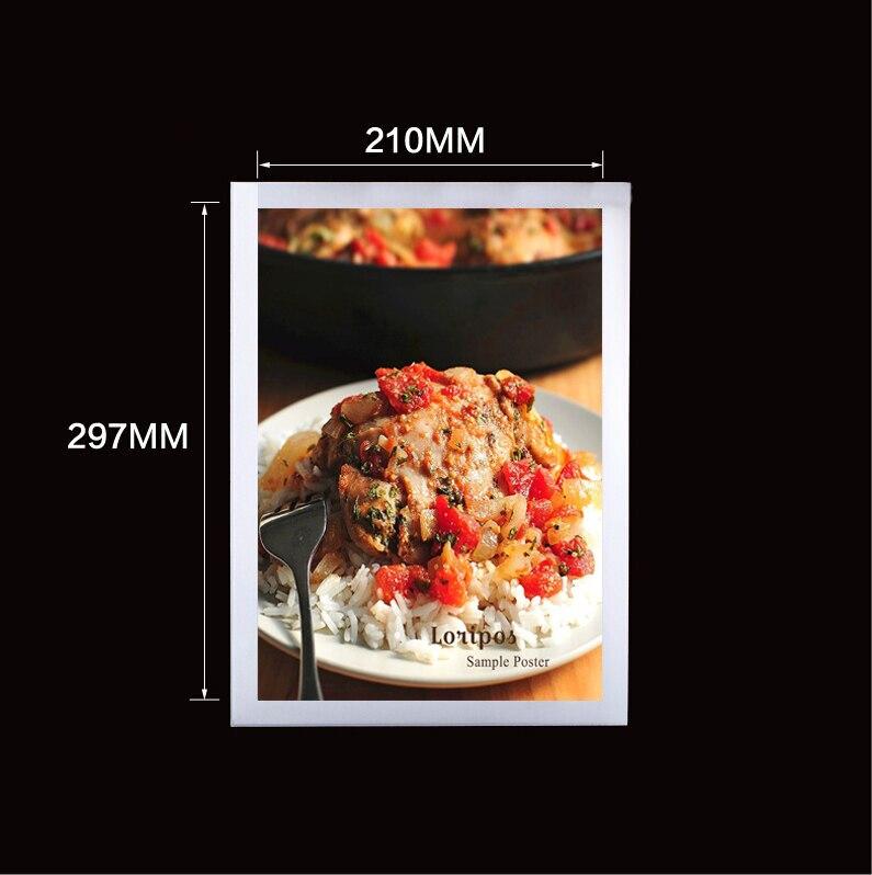Стены Стикеры A4 магнитная фоторамка край Настенные фоторамка Cover Вход держатель Дисплей Плакат рамка этикетка держатель чехол