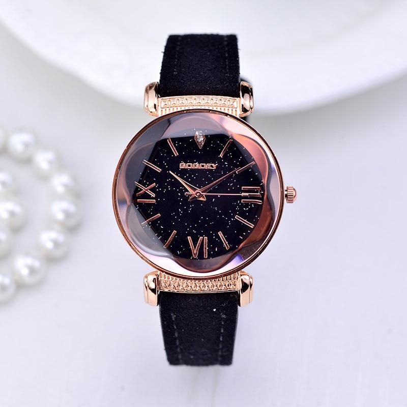 Intelligent Luxury Brand Rose Gold Women Watch Fashion Casual Crystal Dress Wristwatch Leather Strap Quartz Watch Female Clock Reloj Mujer Home