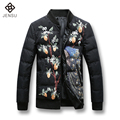 Fashion Designed Men 2016 Winter Coats Printed Flowers Men Thick Outwears Casual Men Hot Sale Warm Wears Plus Size 5XL
