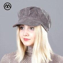 Берет, женские шапки, Новое поступление, для женщин, вельвет, Ретро стиль, модная, Boina, зимняя шапка, классический британский змей, берет в полоску, шапки