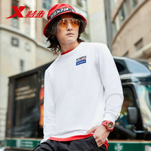 881329059202 Xtep Men hoodies sport Sweater Sportswear Autumn Casual Sports Tops Round Neck Long Sleeve Sweater