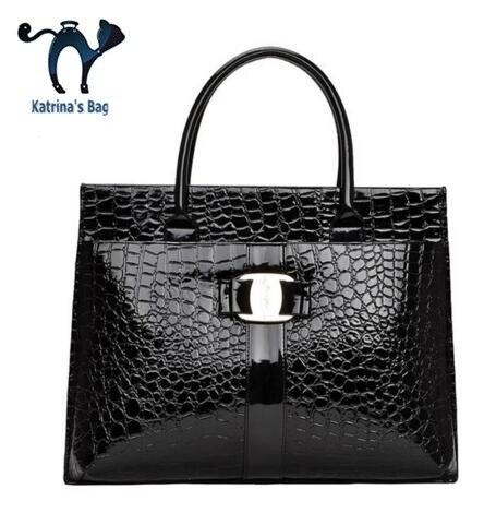 New Arrival Crocodile Pattern Women Handbags Female Paint Patent Leather Bag Ladies Famous Brand Shouder Women Messenger Bags