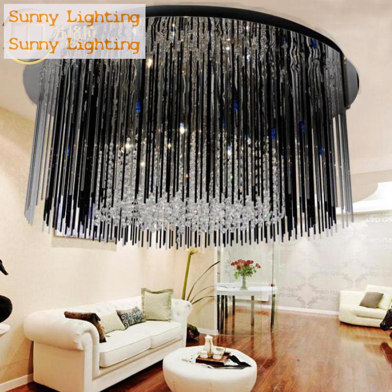 Dining Room Purple & Black Crystal Lamp Luminaria modern crystal Ceiling Lamp G4 Led Living Room Bedroom kitchen ceiling lights homelover modern led ceiling lights for living room bedroom kitchen luminaria led ultra thin hall luminaria led ceiling lamp