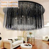 Dining Room Purple & Black Crystal Lamp Luminaria modern crystal Ceiling Lamp G4 Led Living Room Bedroom kitchen ceiling lights
