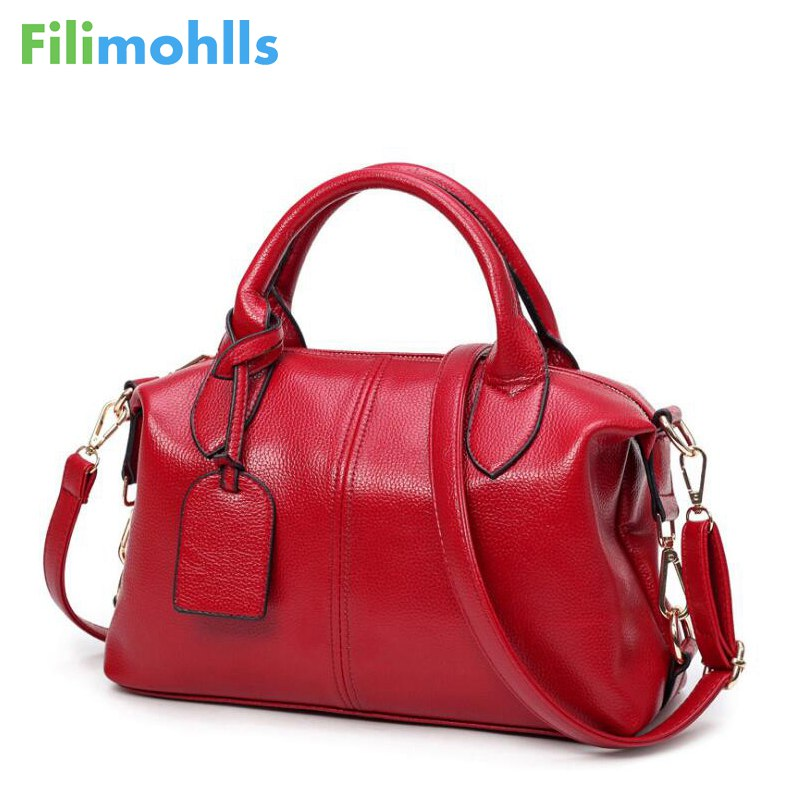 Fashion Solid Women Pillow Handbag Soft PU Leather Boston Women Top-Handle Bag Tote Messenger Shoulder Bag Large Capacity S1184 new arrival 2017 brand pu leather women handbag soft pu leather shoulder bag fashion solid zipper women bag