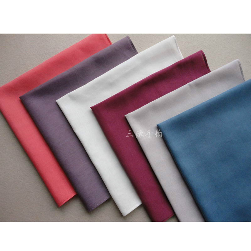 3 Pieces/lot NEW Solid Handkerchiefs Solid Color Square Pocket Handkerchiefs Unisex 19Color