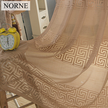 NORNE Decorative Semi Lace sheer Curtain Tulle Voile Panels for Windows Living Room Kitchen Bedroom Kids Rooms Door Curtains norne embroidered semi white voiles peacock feathers tulle sheer curtains for living room kitchen drape treatment for bedroom