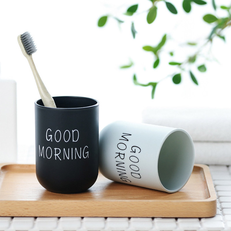 Simple Good Morning Tooth Brush Organizer Protable Travel Toothbrush Case Storage Cup Toothpaste Holders Bathroom Accessories