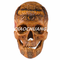 Статуя двойной рыбы ремесел Апокалипсис серии капалу человеческого черепа кости ремесла 1:1 Смола кости черепа гравировка Коллекционные ве