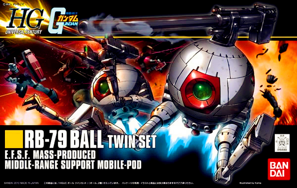 1PCS Bandai 1/144 HGUC 114 RB-79 Ball Twin Set Scale Model Gundam Mobile Suit Assembly Model Kits Anime action figure Gunpla bandai bandai gundam model sd q version bb 309 sangokuden wu yong bian xiahou yuan battle