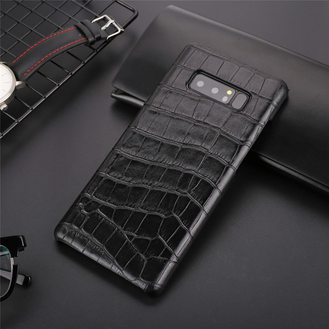 competitive price 25bd7 9cd3a US $8.78 |Luxury brand back cover leather For samsung galaxy note 8 case  phone note8 note 9 cases and covers shell-in Fitted Cases from Cellphones &  ...