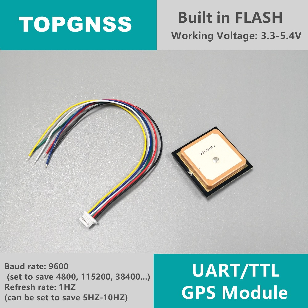 3 3-5V TTL UAR GPS Modue GN-701 GNSS Module Antenna Receiver , built-in  FLASH,NMEA0183 TOPGNSS